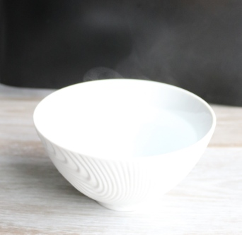 Bowl with hot water